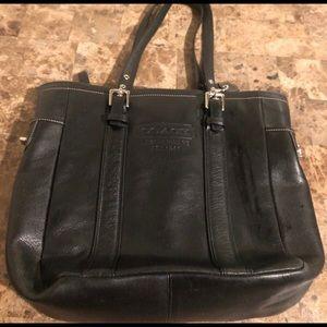 Black Leather Coach Purse / Bag